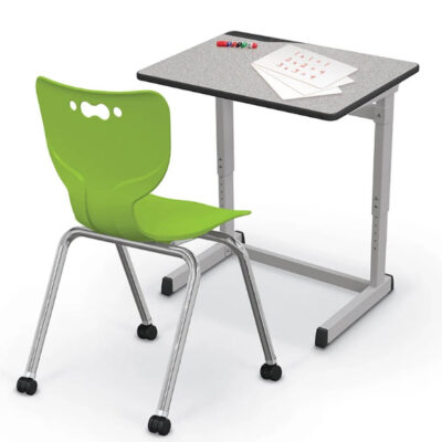 Essentials Student Desk and Hierarchy Caster Chair Green